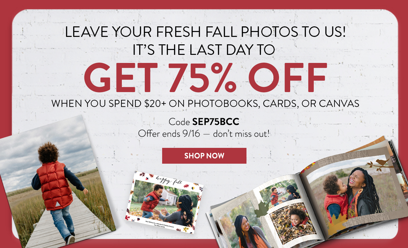Save 75% when you spend $20 or more on Books, Cards, and Canvas
