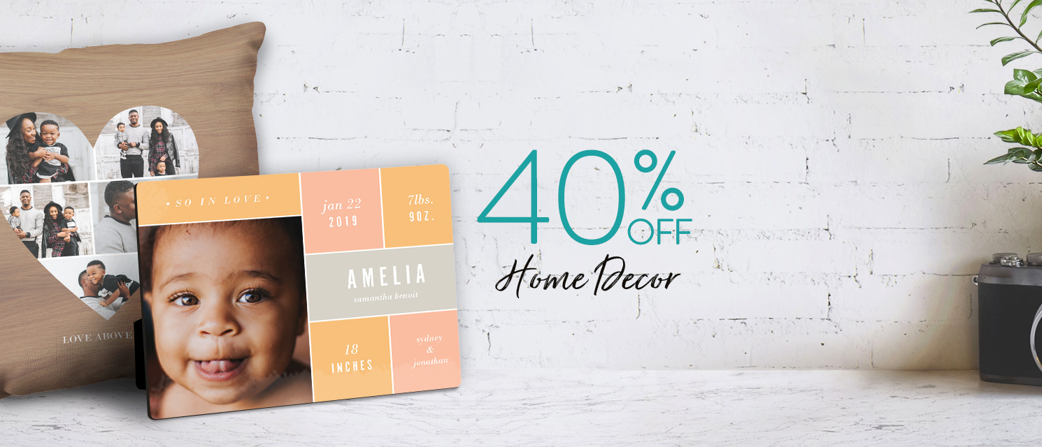 50% off Home Decor products!