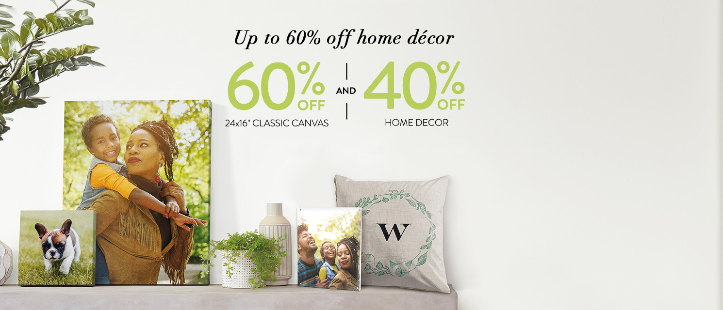 Up to 60% off Home Decor!