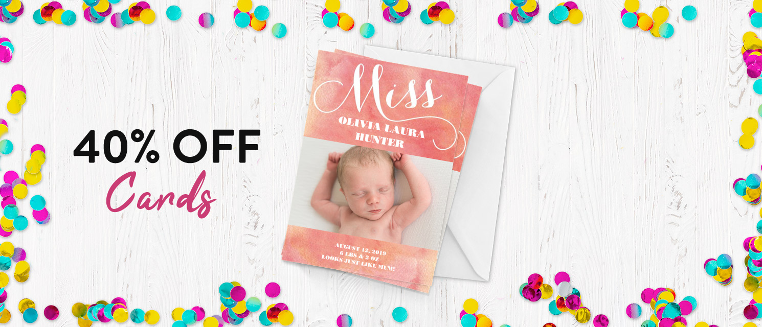40% off Cards!