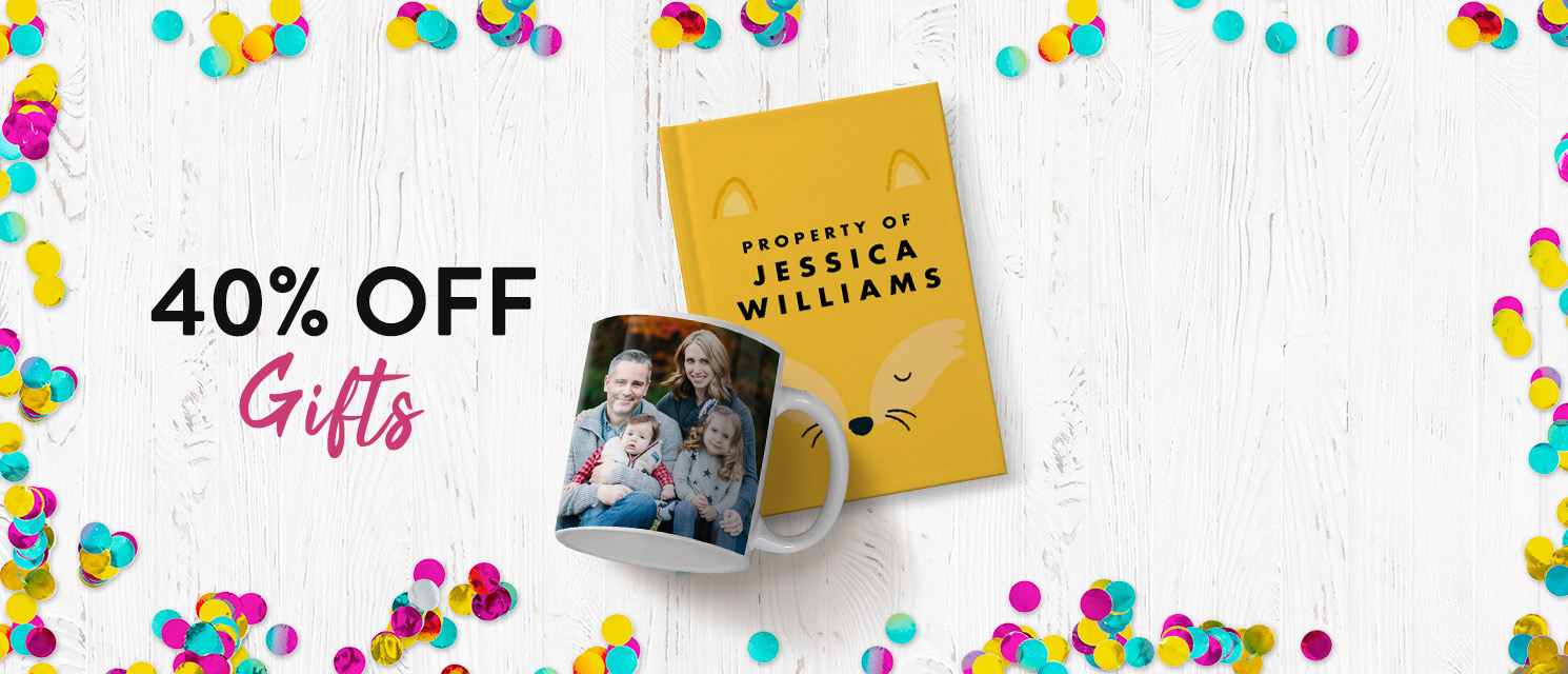 40% off Photo Gifts!