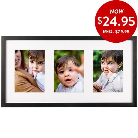 28x53cm 3-in-1 framed print