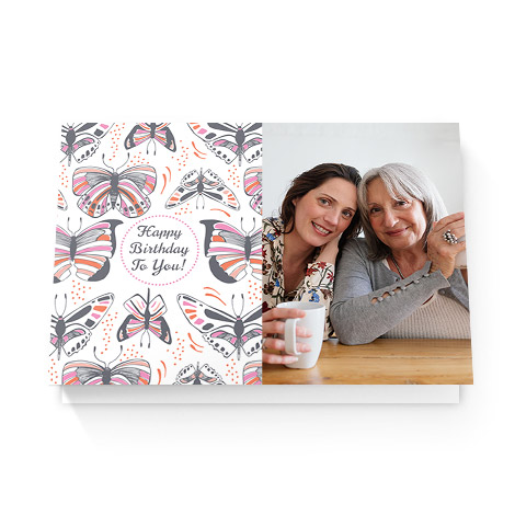 Image of mom and daughter on a birthday card for mom