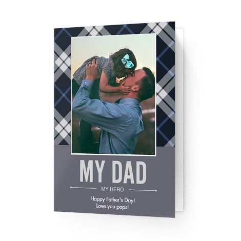Dad Plaid Father's Day Cards