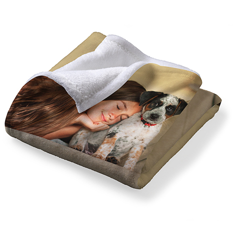 Plush Fleece Photo Blanket, 30x40