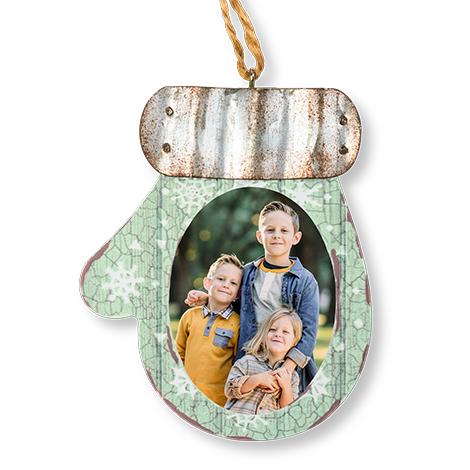 Icon Rustic Mitten Ornament