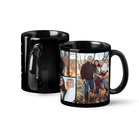 Icon Photo Coffee Mug, 11oz, Black
