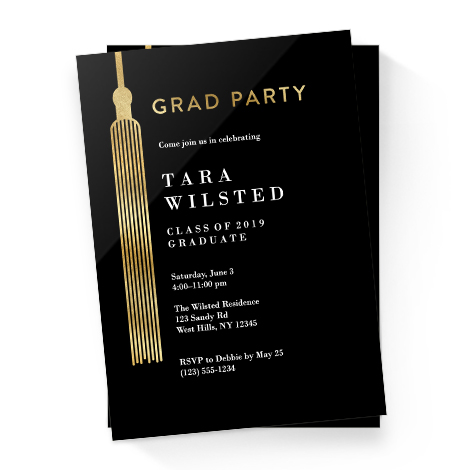 6954a39865f Graduation Party Invitations