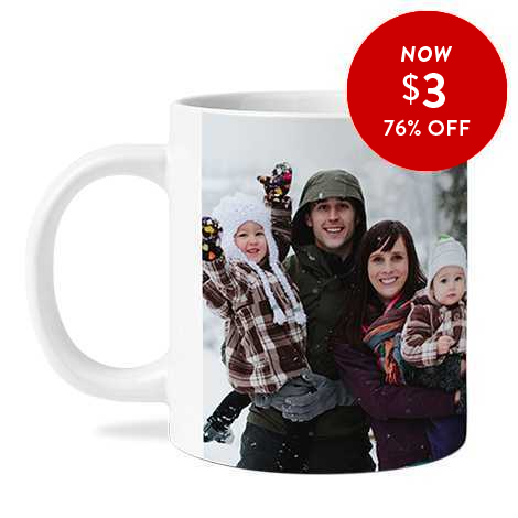 76% off 11oz. Photo Coffee Mugs