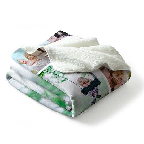 Collage Premium Berber Fleece Blanket
