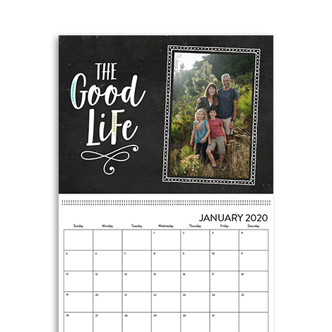 8.5x11 Wall Calendar