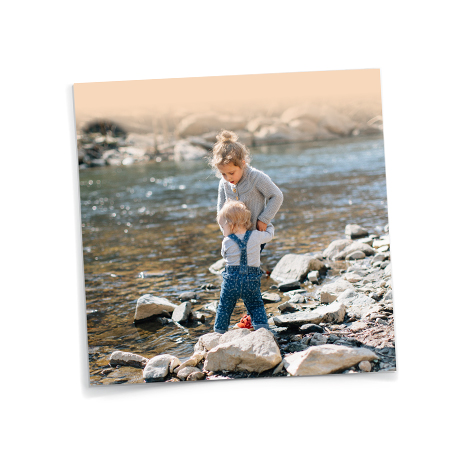 Square Image showing kids in stream