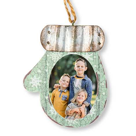 Icon Rustic Mitten Ornament