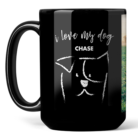 Photo Coffee Mugs, 15oz, Black