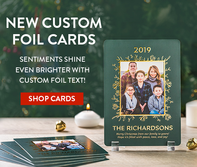 Check out our new Custom Foil Cards!