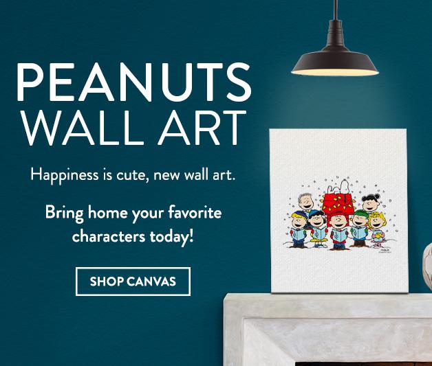 New! Peanuts Canvas Art