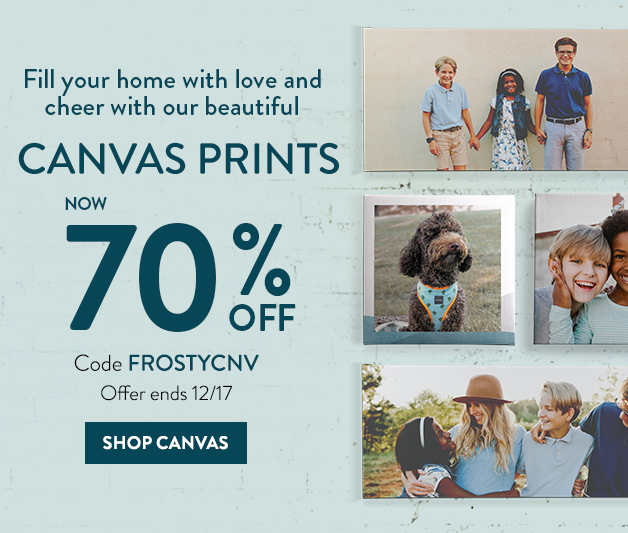 70% off Unframed Canvas