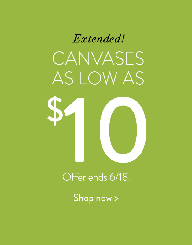 Canvas Prints as low as $10