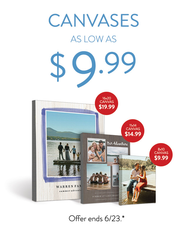 Canvas Prints as low as $9.99
