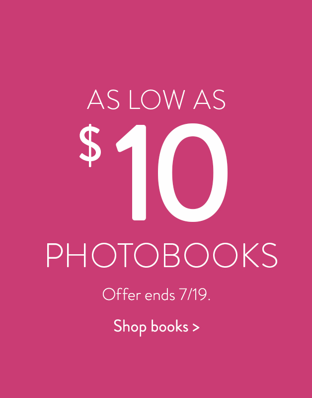 Photo Books for as low as $10