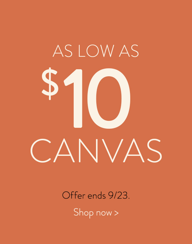 Canvas Prints for as low as $10