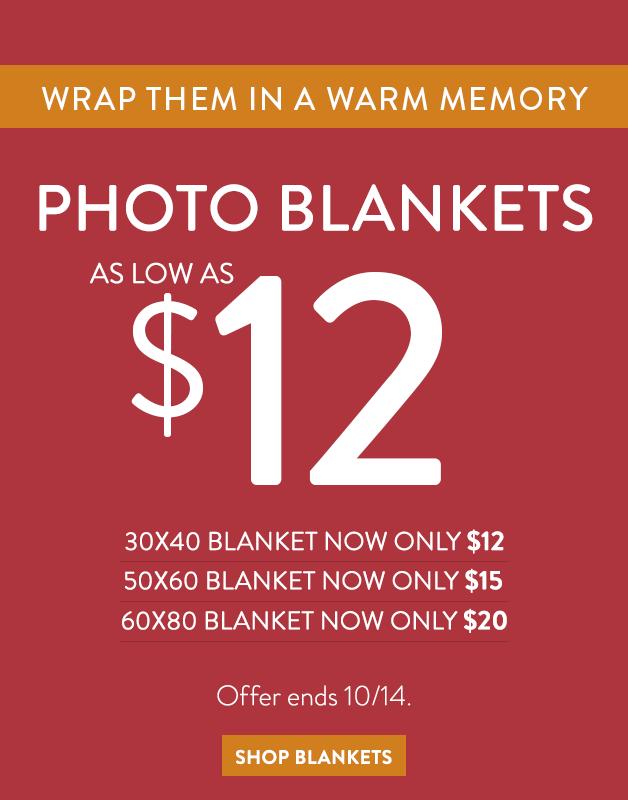 Plush Fleece Blankets as low as $12