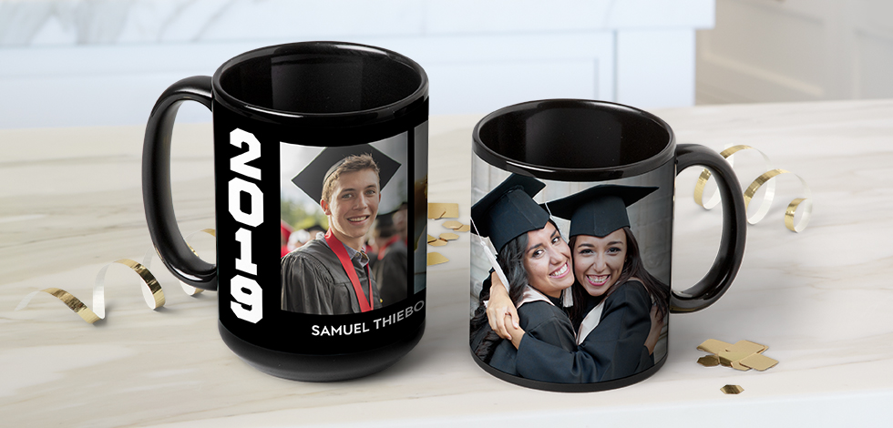 NEW! Black Photo Coffee Mugs