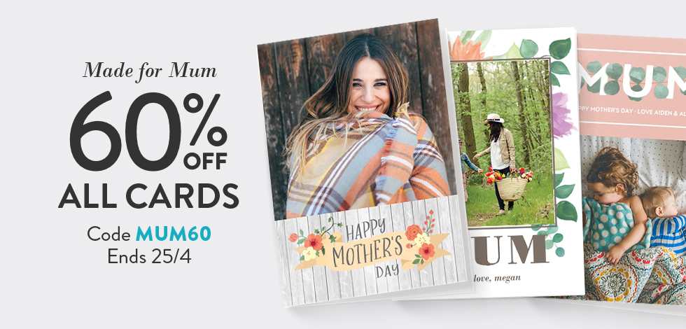 60% off all Photo Cards
