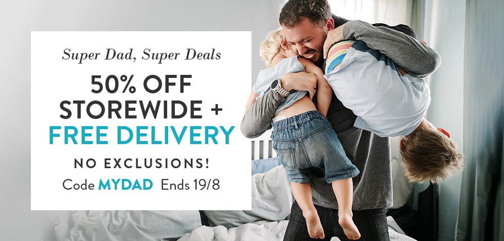 50% off storewide + free delivery!