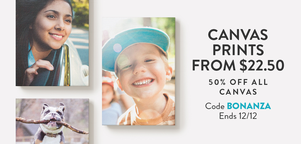 Canvas Prints from $22.50