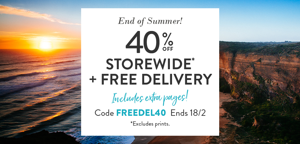 40% Off Storewide + Free Delivery (*excludes Prints)