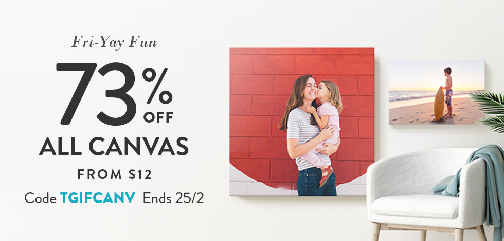 73% off all Canvas Prints