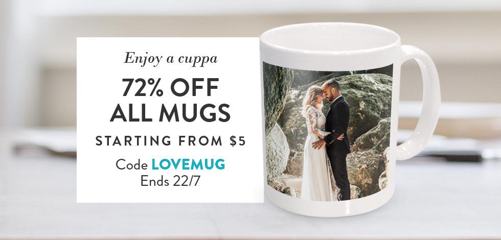 72% off all Photo Mugs