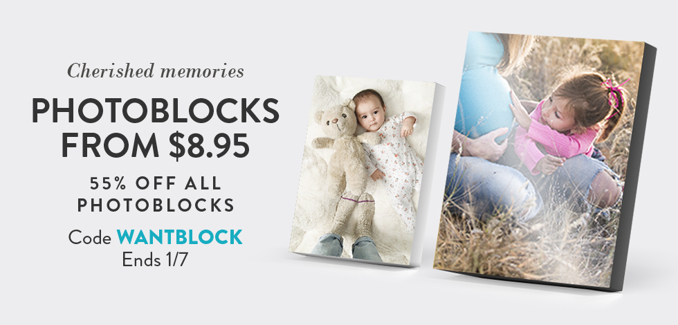 55% off all Photoblocks