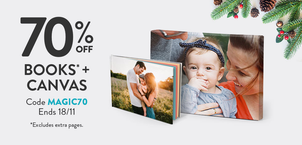 70% off all Books* and Canvas