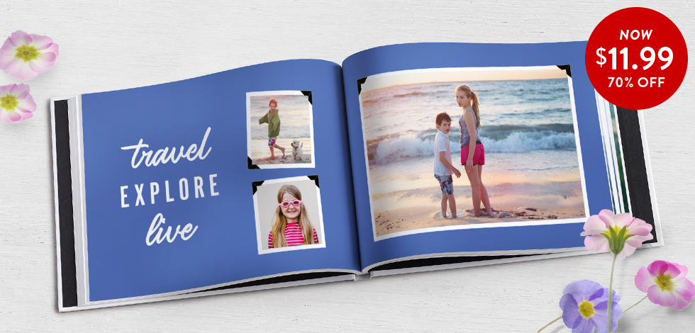 70% off 8x11 Hardcover Photo Books