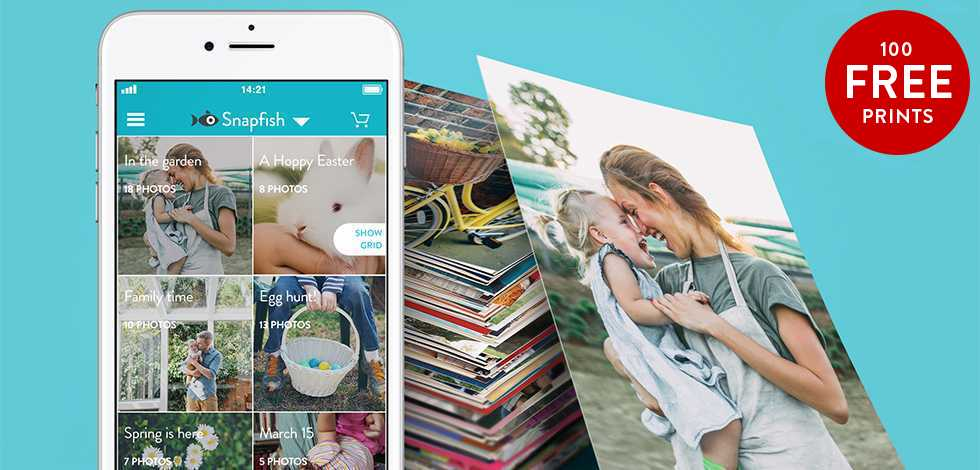 100 free prints with our easy-to-use mobile app