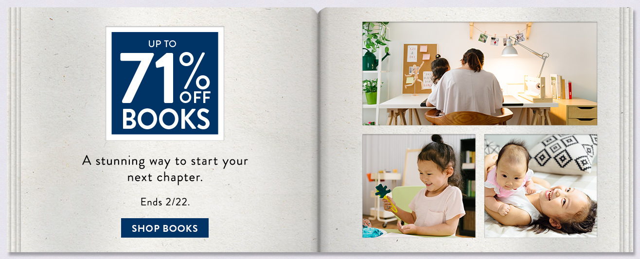 Up to 71% off Photo Books