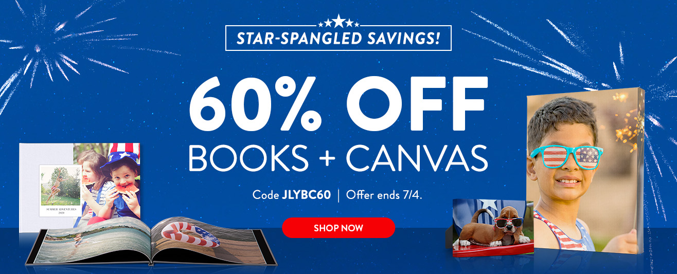 60% off Books and Canvas