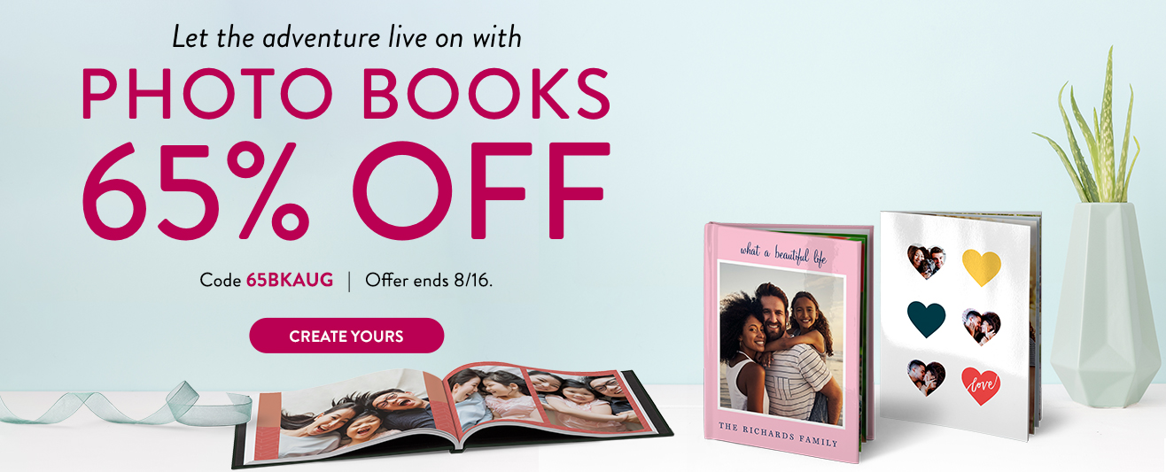 65% off Photo Books