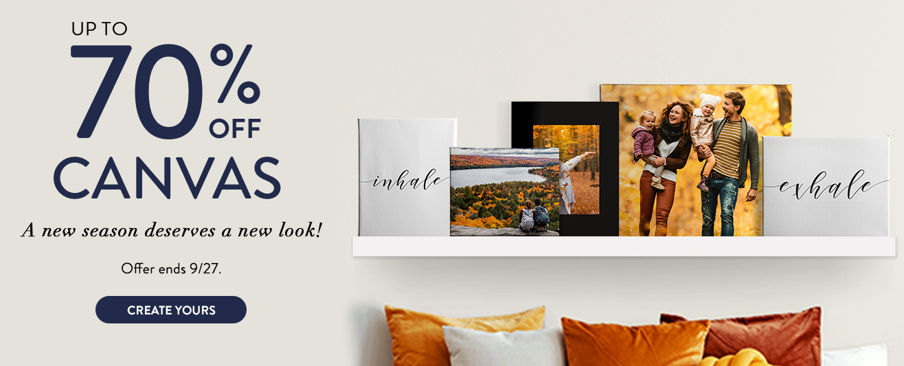 Up to 70% off Canvas Prints