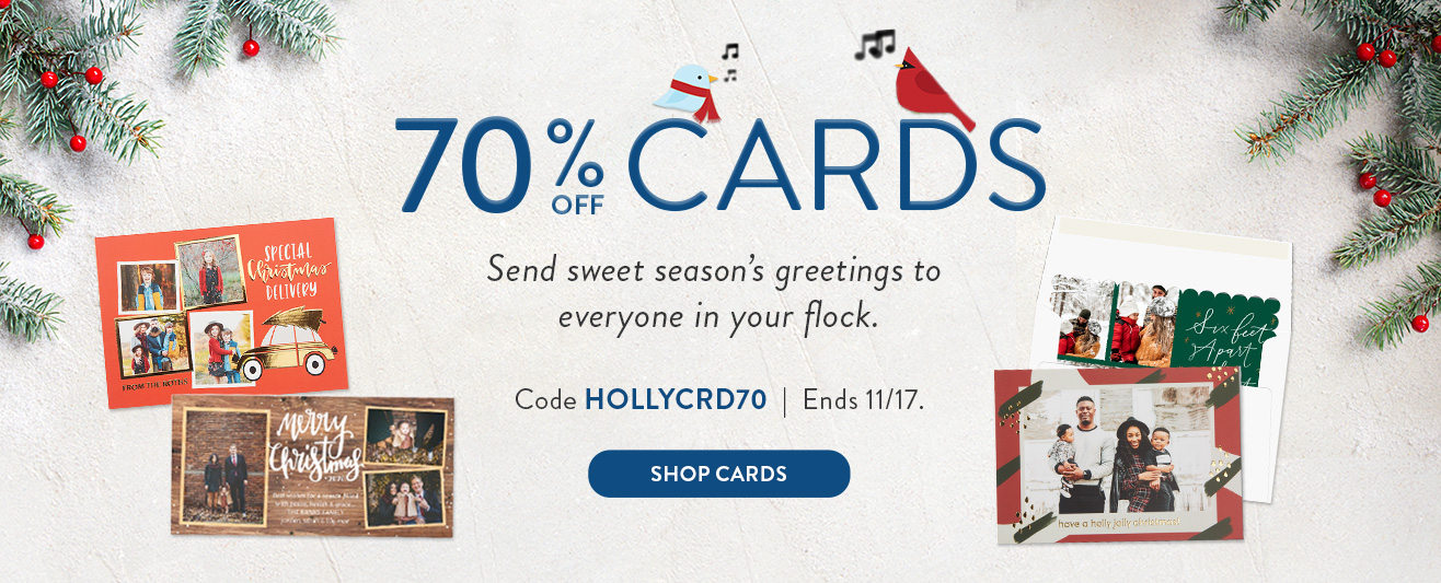 70% off Cards