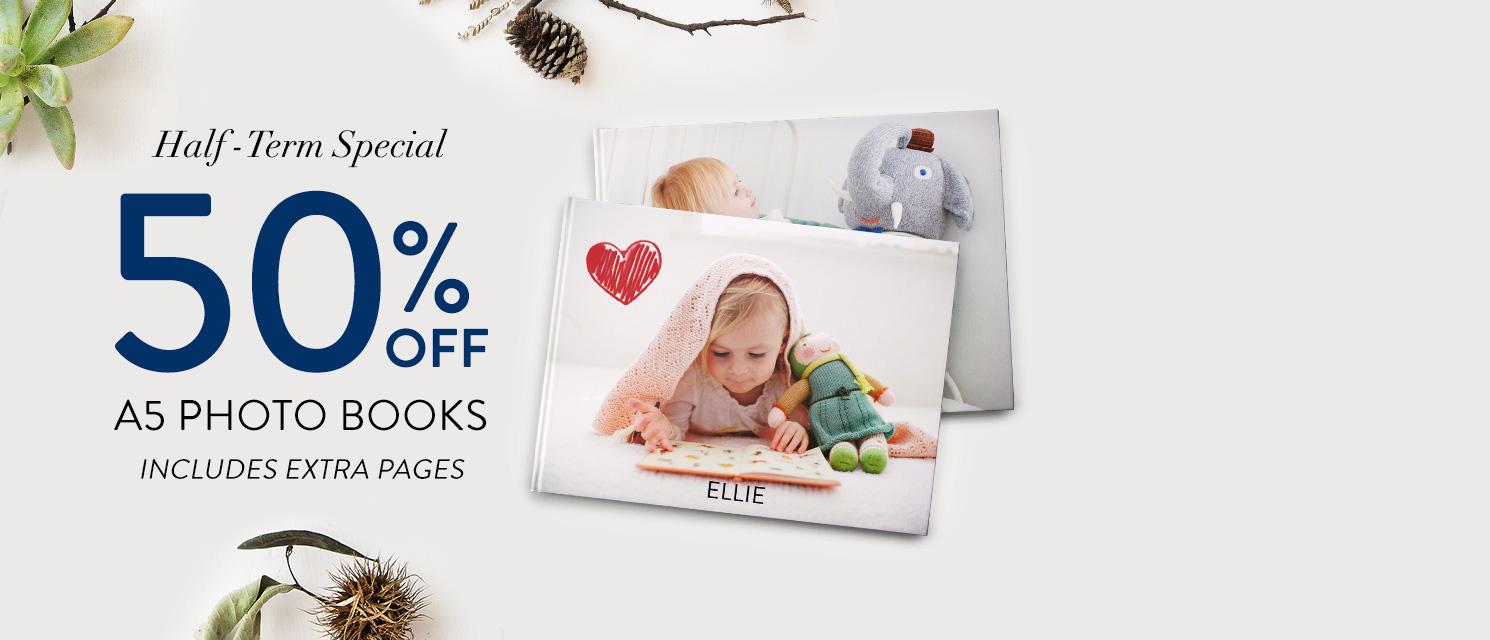 50% off 8x6'' Photo Books!