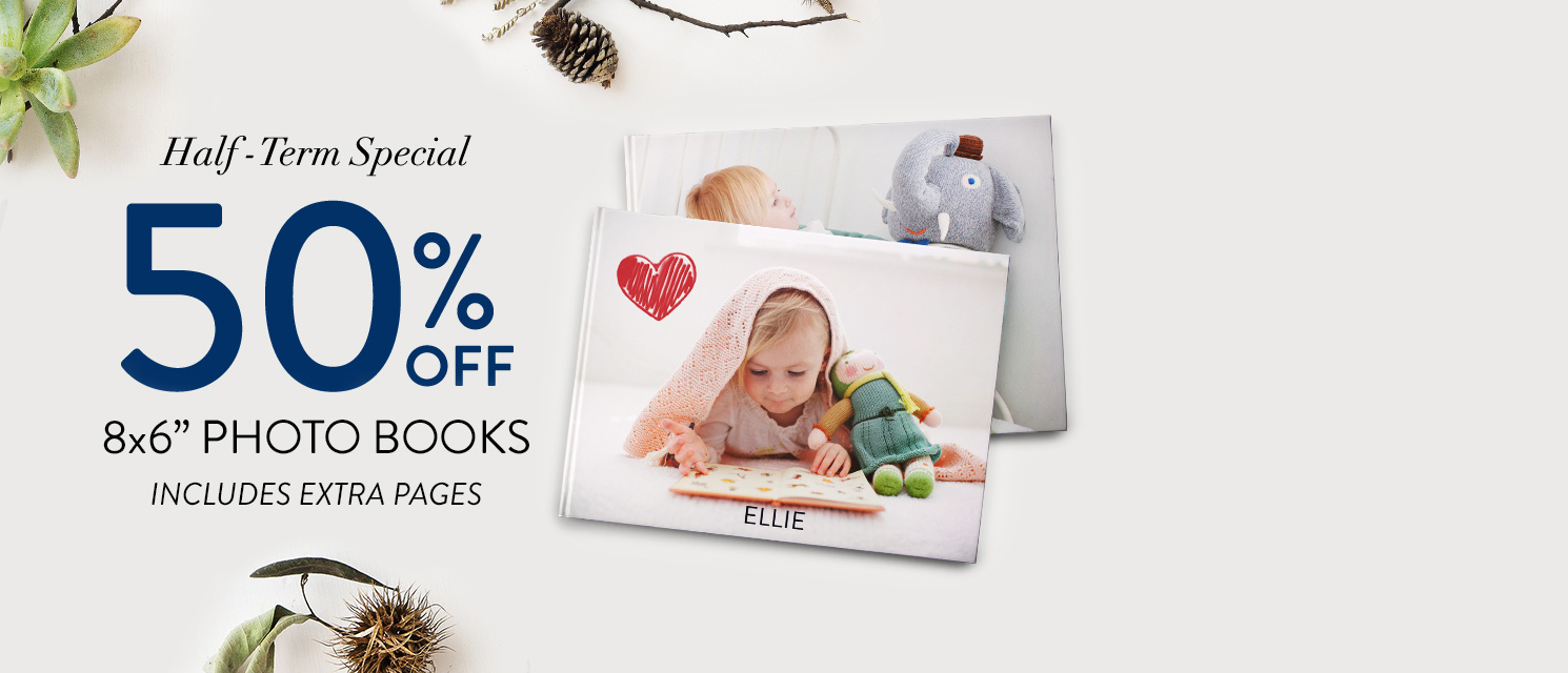 More than words : 8x6'' Photo Book nowfrom£4.99was£9.99!UsecodeBOOK220 by 23/02.