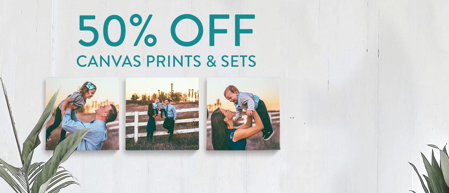 50% off Canvas Prints!