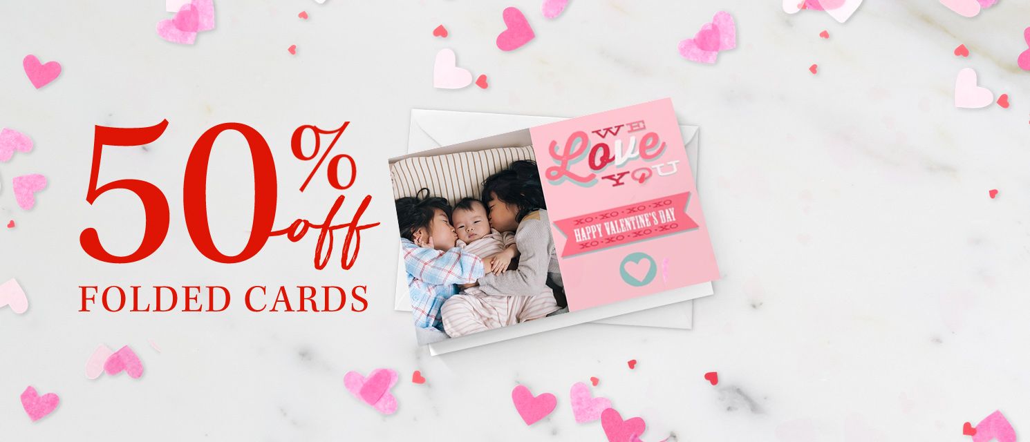Sealed withakiss : Folded Cards are now 50% off!Use codeHEART120 by 26/01.