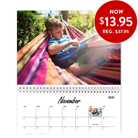 20x28cm hd glossy wall calendar