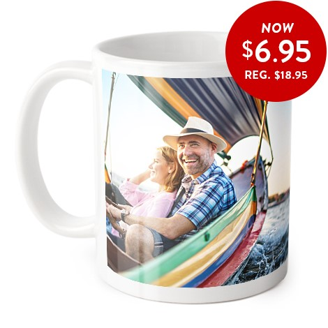 Coffee mug with a personalised photo added
