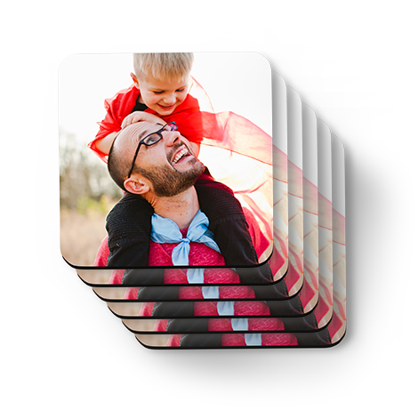 Set of coasters with father and son