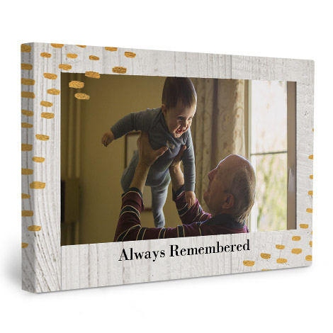 Canvas prints with grandad holding baby